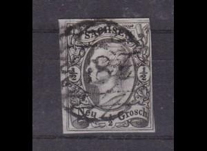 König Johann I ½ Ngr. mit Nummernstempel 18 (= Großenhain)