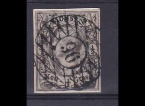 König Johann I ½ Ngr. auf Briefstück mit Nummernstempel 96 (= Neusalza)