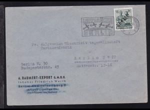 Schwarzaufdruck 16 Pfg. auf Firmenbrief (A. Baumert-Export GmbH)