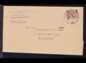 Grünaufdruck 10 Pfg. auf Brief des Amtsgericht Berlin-Tempelhof ab Berlin SW 11