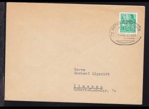 GOTHA-LEINEFELDE BAHNPOST ZUG 546 12.4.60 auf Brief