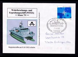 BERLIN 13156 Wehrforschung- und Erprobungsschiff der Marine TAUSCHTAG PHILA