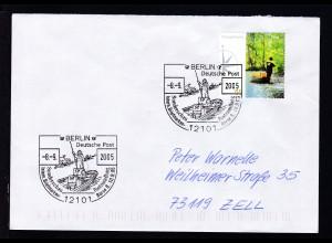 BERLIN 12101 Deitsche Post Sonderschau Postzustellung Intern. Briefmarken-Börse