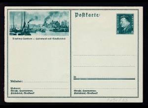 Ebert 8 Pfg. mit Bild Duisburg-Hamborn, Karte min. Eckbug