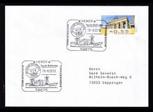 HEMER 58675 Tag der Briefmarke VERBAND DER PHILATELISTEN IN NORDRHEIN-WESTFALEN