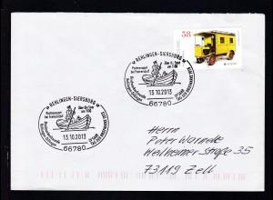 REHLINGEN-SIERSBURG 66780 Posttransport bei Fremersdorf über die Saar um 1900