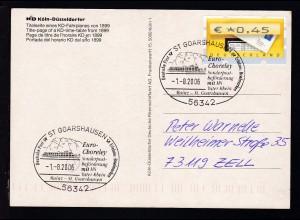 ST. GOARSHAUSEN 56342 Euro-Choreley Sonderpost-bförderung mit MS Vater Rhein