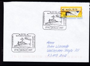 "ZETEL 28340 Vor 75 Jahren in Pernambuco LZ 127 ""Graf Zeppelin"" trifft Kreuzer"