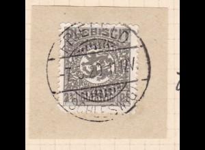 Wappen 2½ Pfg. auf Briefstück mit Stempel FRIEFELD (SCHLESWIG) 7.5.20