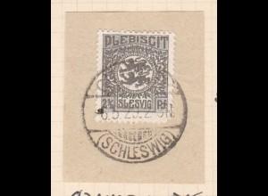 Wappen 2½ Pfg. auf Briefstück mit Stempel GRAMMBY (SCHLESWIG) 6.5.20