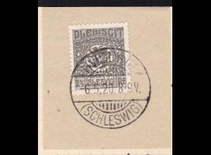 Wappen 2½ Pfg. auf Briefstück mit Stempel HVIDDING (SCHLESWIG) 6.5.20