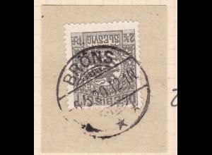 Wappen 2½ Pfg. auf Briefstück mit Stempel BRÖNS *** 6.5.20