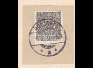 Wappen 2½ Pfg. auf Briefstück mit Stempel BROACKER *** 6.5.20