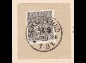 Wappen 2½ Pfg. auf Briefstück mit Stempel SCHAFFLUND ** 14.3.20