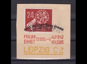 DEBRIA Leipzig auf Briefstück mit Sonderstempel