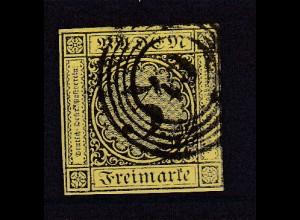 Ziffer 3 Kr. mit Nummernstempel 43 (= Freiburg)