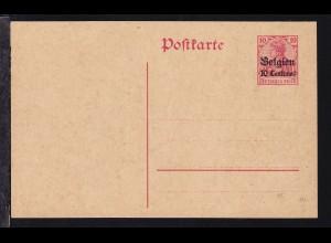 """Germania 10 Pfg. mit Aufdruck """"Belgien 10 Centimes"""""""