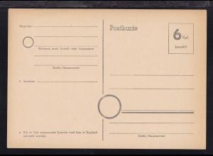 Behelfspostkarte 6 Rpf.