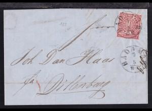 Ziffer 1 Gr. auf Brief mit K1 HADAMAR 7.5. nach Dillenburg