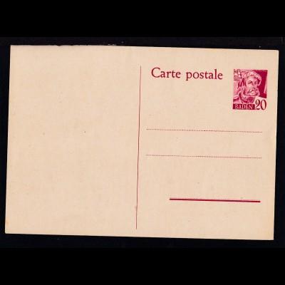 Baden Postkarte 20 Pfg.