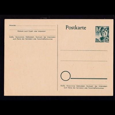 Rheinland-Pfalz Postkarte 10 Pfg.