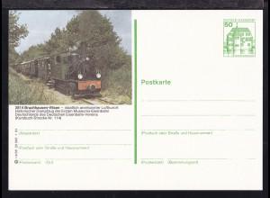 Burgen und Schlösser 50 Pfg. mit Bild Museumsbahn Bruchhausen-Vilsen
