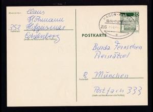 HAGEN-KASSEL BAHNPOST e ZUG 02693 7.4.71 auf Ganzsache