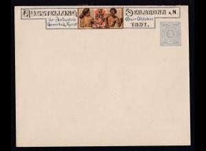 Ziffer 2 Pf. Perivatumschlag zur Ausstellung Heilbronn 1897