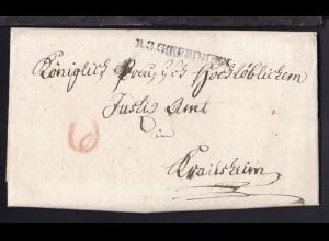 1806 L1 R3 GOEPPINGEN auf Brief des Oberamt Göppingen nach Crailsheim