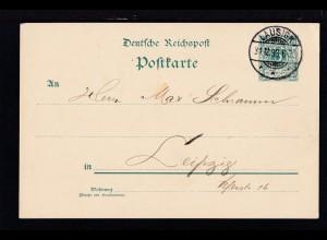 Ziffer 5 Pfg. ab Lausigk 31.12.98 nach Leipzig