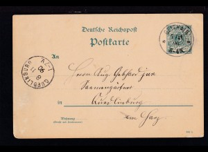 Ziffer 5 Pfg. mit K1 GEITHAIN 7.11.90 nach Quedlinburg