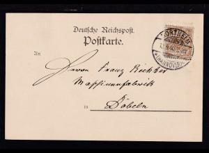 Ziffer 3 Pfg. auf Firmenpostkarte (Ernst Neuse, Northeim i.H-)
