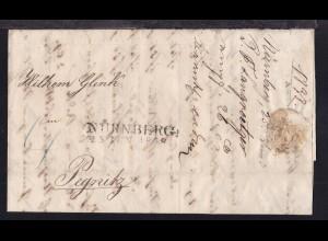 Nürnberg L2 NÜRNBERG 25 JUN 1838 auf Brief nach Pegnitz