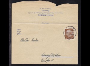 Hindenburg 3 Pfg. auf Drucksache der Hanno-Radschutz-Versicherung ab Hannover