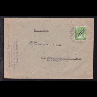 Schwarzaufdruck 10 Pfg. auf Brief des Magistrats ab Nerlin N 65 25.5.49