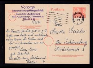 Bauten 8 Pfg. ab Berlin-Charlottenburg 31.1.56 nach Berlin-Schöneberg