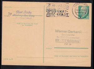 Walter Ulbricht 10 Pfg. ab Altenburg 5.10.71 nach Markkleeberg