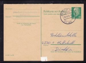 Walter Ulbricht 10 Pfg. Frageteil ab Berlin BPA 28.10.85 nach Hettstedt,