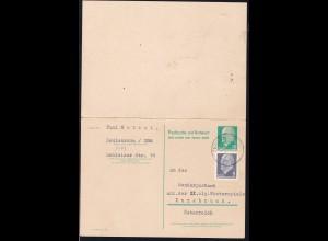 Walter Ulbricht 10 Pfg./10 Pfg. mit Zusatzfrankatur ab Teulenroda nach Innsbruck