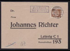 EILENBURG LAND 23.4.40 + R2 Paschwitz über Eilenburg auf Brief nah Leipzig