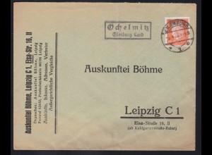 EILENBURG 1 *1e 5.4.32 + R2 Ochelwitz Eilenburg Land auf Brief nach Leipzig