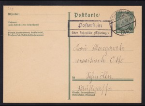 SCHMÖLLN (THÜRING.) LAND 18.4.34 + R2 Posterstein über Schmölln (Thüring.)