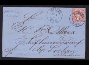 Ziffer 1 Gr. auf Briefhülle mit K2 BERLIN 10.1.71 nach Seifhennersdorf
