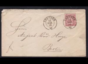 Ziffer 1 Gr. auf Brief mit K2 DRESDEN 17 MRZ 68 nach Berlin, Brief Einriss