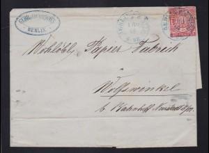 Ziffer 1 Gr. auf Briefhülle mit K2 BERLIN P.E. No 25 1.10.68 nach Wolfswinkel