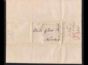 1839 Brief nach Nürnberg