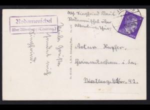 ALTENBURG (THÜRING.) LAND 22.6.43 + R2 Rodameuschel über Altenburg (Thüring.)