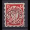 Wappen 15 Pfg. mit Stempel LANGENAU 8.36
